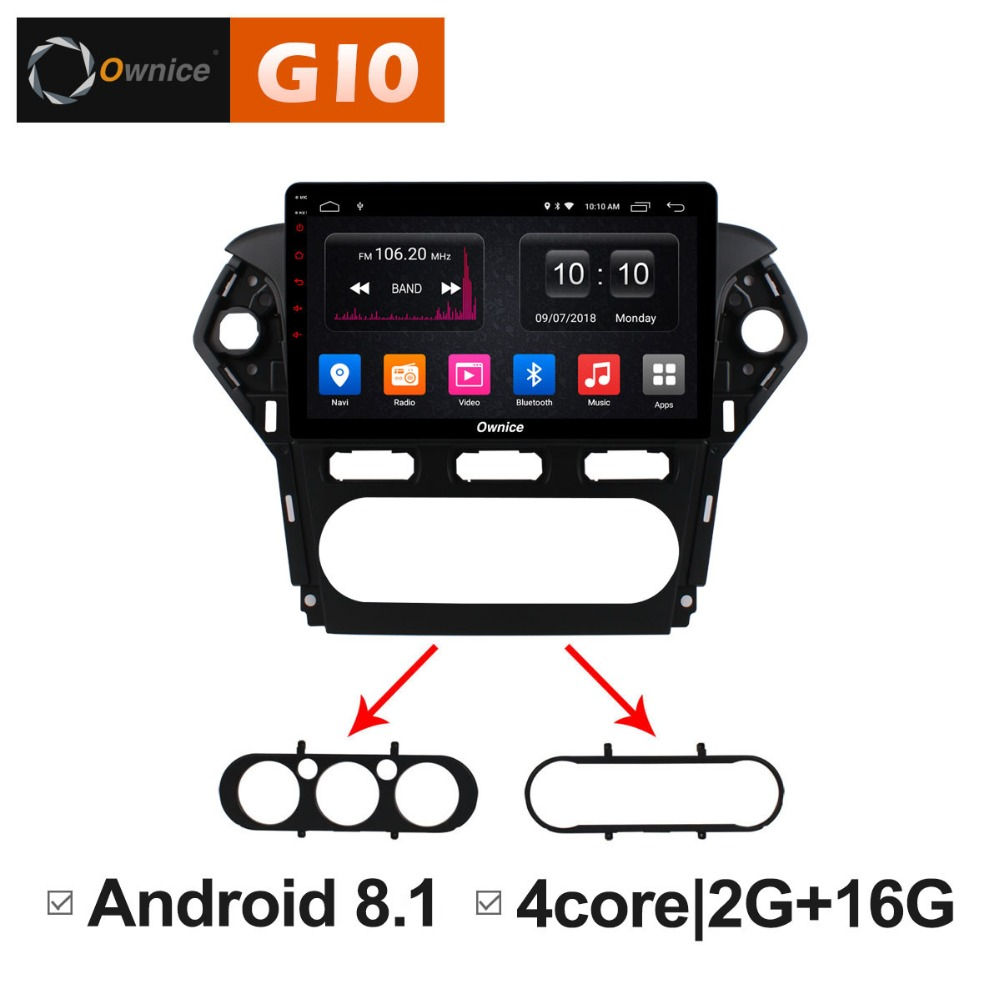 Ownice C500+ G10 Android 8.1 32G+2G Car DVD Player GPS Navigation Radio 2.5D IPS For Ford Mondeo 2011 2012 4G SIM DAB+ DVR