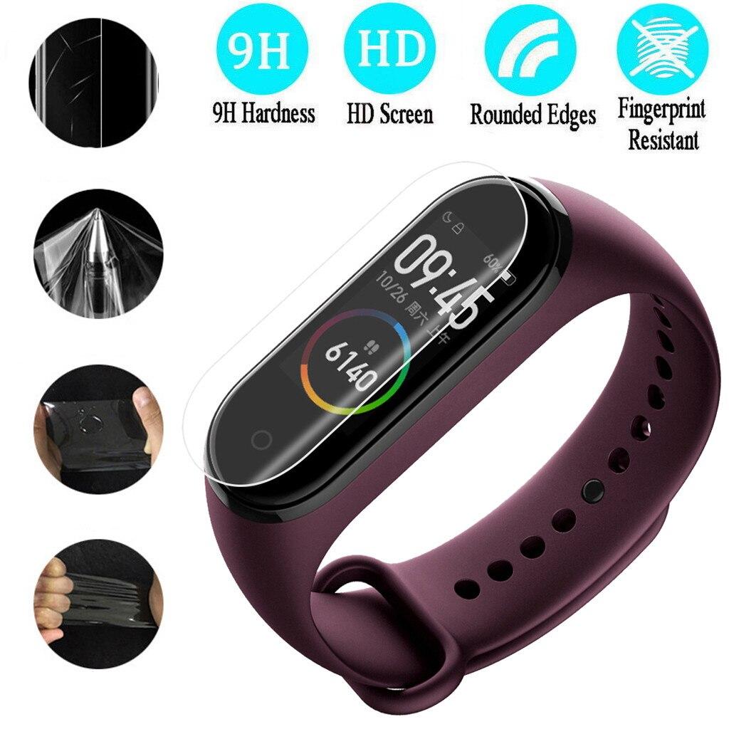 Smart Screen Protector Relógios Tampas do Smartwatch 0.1 mm HD Limpar LCD TPU Protetores de Tela de Cobertura Completa Filme Para Xiao mi banda 4
