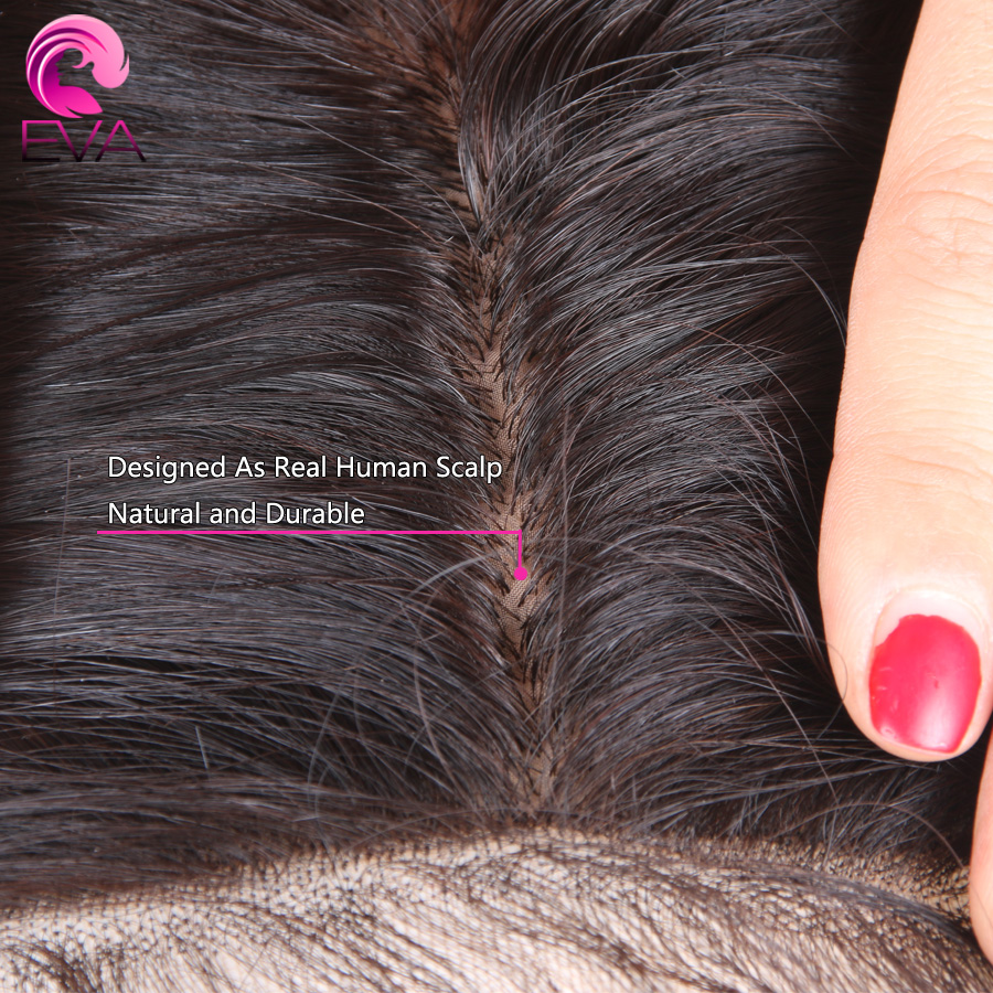 4.5x4.5 Silk Base Full Lace Human Hair Wigs Pre Plucked Hairline With Baby Hair Brazilian Body Wave Silk Top Wigs EVA Remy Hair