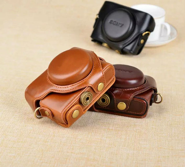 NEW Leather Case Camera Case Bag Cover for Sony RX100 IV / M4 Camera High quality Free Shipping