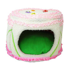 Cat House Exploding Kittens Soft Pink Lace Kennel Pet Luxury Ctue Princess Beds Mats Supplies Products Cats ATB-201