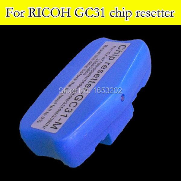 HOT!! Chip resetter For Ricoh GC31 use for Ricoh GC31ink cartridge compatible GXE5500/GXE2600/GXE5050N/GXE5550N cs dx18 universal chip resetter for samsung for xerox for sharp toner cartridge chip and drum chip no software limitation