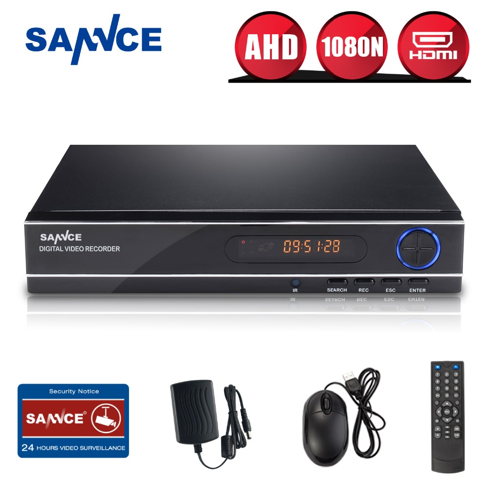 ФОТО SANNCE 8CH 3IN1 1080N CCTV DVR Video Recorder Full H.264 HDMI P2P cloud Motion detecting remote phone Monitor Email Alert