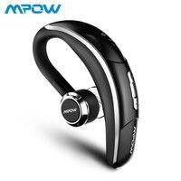 Mpow 028 беспроводной наушник Bluetooth 4,1 Гарнитура одиночные наушники 6 H время разговора с микрофоном громкой связи для водителя автомобиля