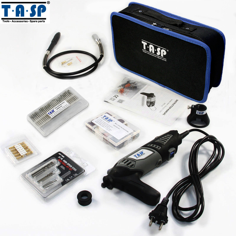 TASP 170W Variable Speed Electric Rotary Tool Mini Drill with Flexible Shaft 175PC Accessories Set Storage Bag