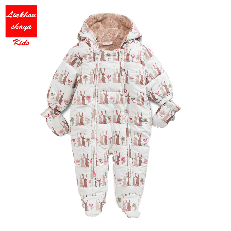 2017 NEW infantil Baby Rompers Winter Thick Warm Baby boy Clothes Long Sleeve Hooded Jumpsuit Kids Newborn Outwear winter baby rompers organic cotton baby hooded snowsuit jumpsuit long sleeve thick warm baby girls boy romper newborn clothing