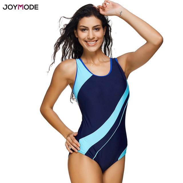 777dafa99751e JOYMODE Swim Sport Wear Women One Piece Jumpsuit Slim Summer Vest Swimsuit  Girls Sporty Bathing Suit Plus Size Beach Swimwear