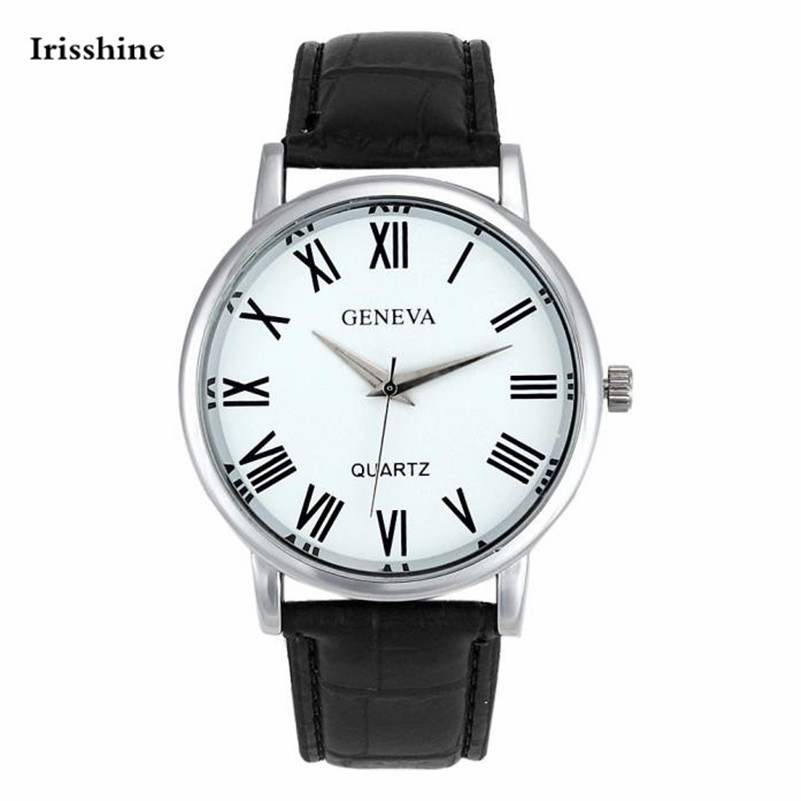 Irisshine I08 Brand Luxury Women Watches Lady Girl Women Faux Leather Analog Quartz Wrist Watch Wholesale Free Shiping