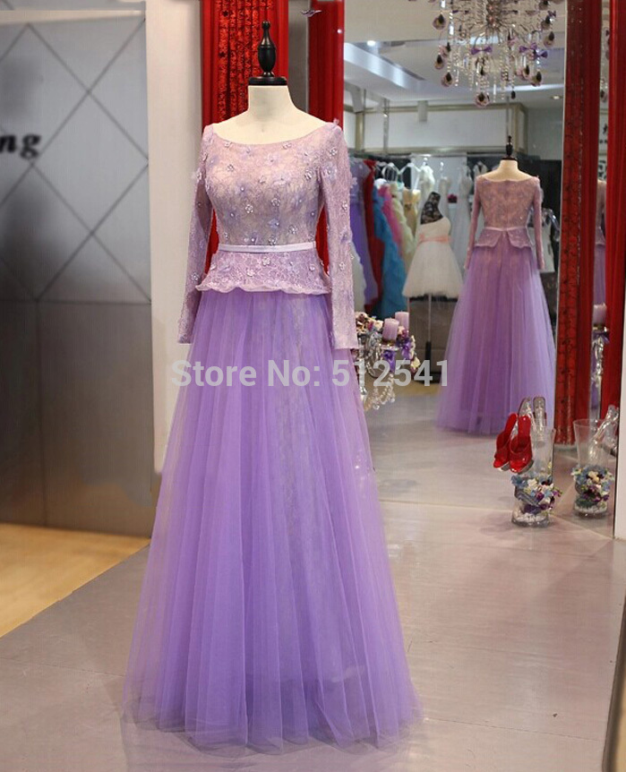 Long Sleeve New Lace 2018 Mother of the Bride Dresses Sheath Scoop Neck Applique Flowers Beads Mother Formal evening gown in Mother of the Bride Dresses from Weddings Events