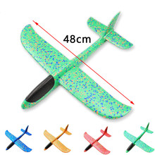 38/48cm EPP hand throwing aircraft foam aircraft swivel toy plane throwing glider resistant to falling double hole