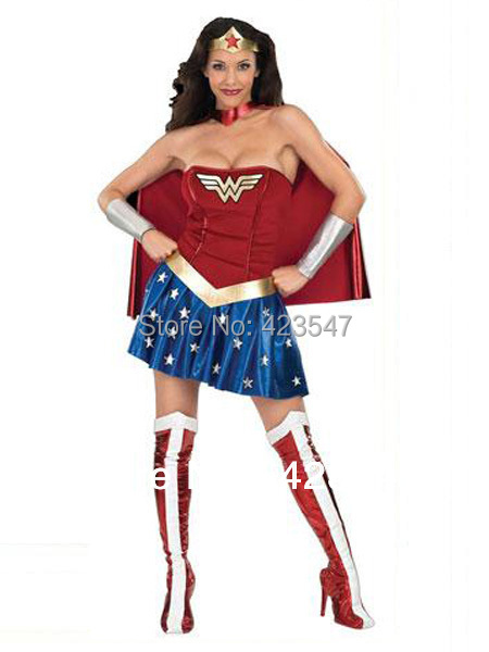 Wonder Woman Diana Superhero Costume Halloween Party Costumes-Zentai