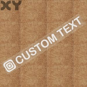 Image 5 - XY Personalized Custom Instagram Username Waterproof Car and Motorcycle Sticker Bumper Sticker Drop Shipping