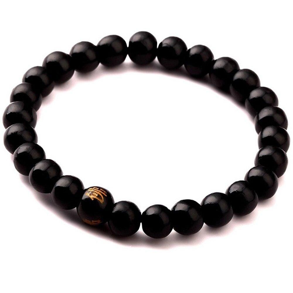 8mm Tibetan Buddha Buddhist Wood Bead Mala Bracelet Black/Brown Wrist Ornament 1 pc Fashion Jewelry