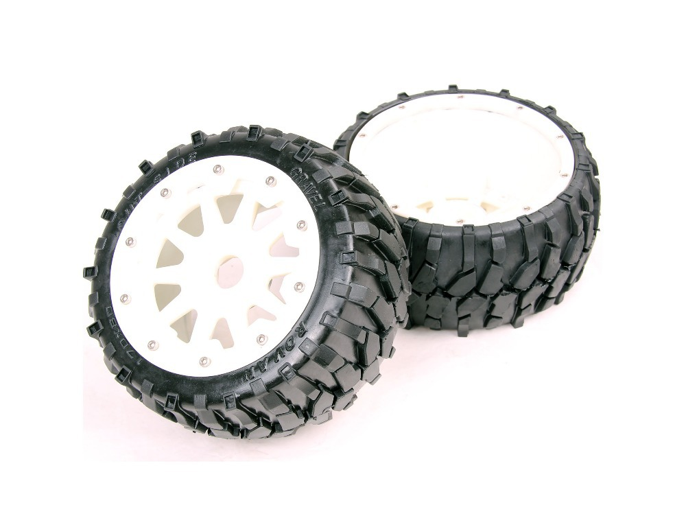 1/5 rc car racing parts,Baja 5B Stone tyres and nylon wheels - Front x 2pcs free shipping цены онлайн