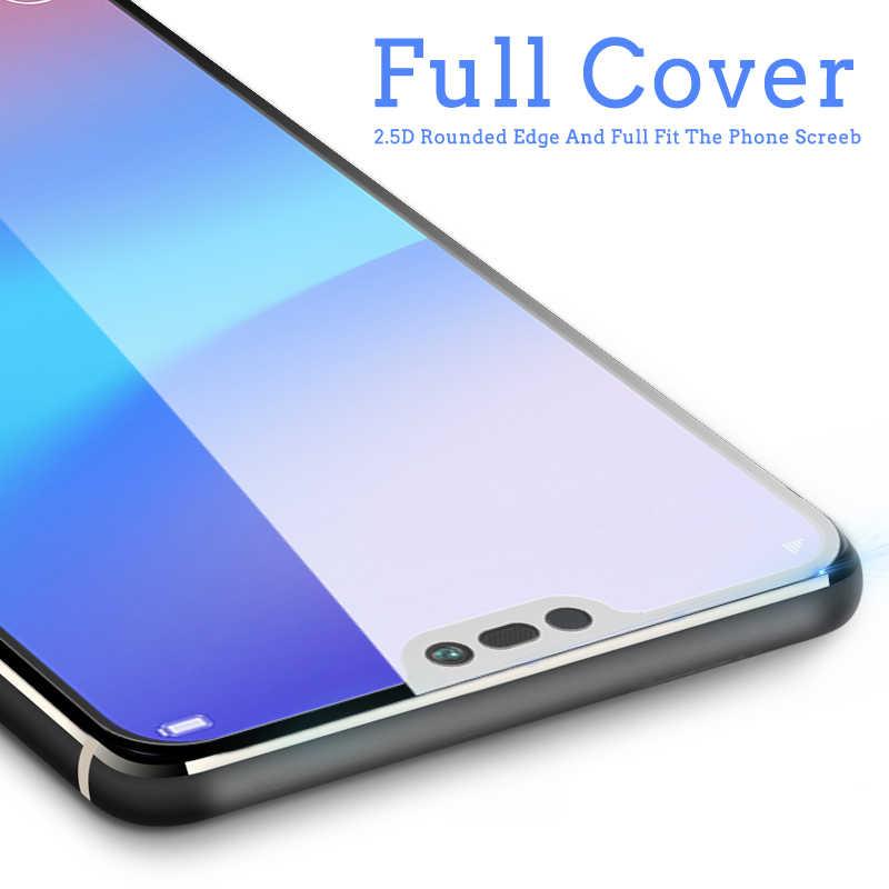 واقي للشاشة y6 y7 y5 prime 2018 من الزجاج المقسى لهاتف هواوي Y3 Y5 Y6 Y7 Y9 Y5 Y6 Y7 Prime Pro غطاء كامل ثلاثي الأبعاد ملون 9h