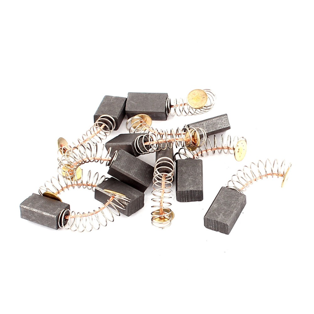 10pcs/5Pairs High Quality Mini Drill Motor Carbon Brushes Spare Parts 12.5x8x5mm Electric Grinder Replacement Dremel Rotary Tool 10pcs 14mmx8mmx5mm power tool electric motor carbon brush replacement