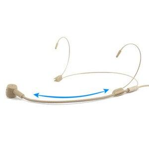 Image 2 - المهنية سماعة الرأس 3.5 مللي متر السلكية ميكروفون مكافحة التدخل واضح الحساسة UHF عالية الدقة