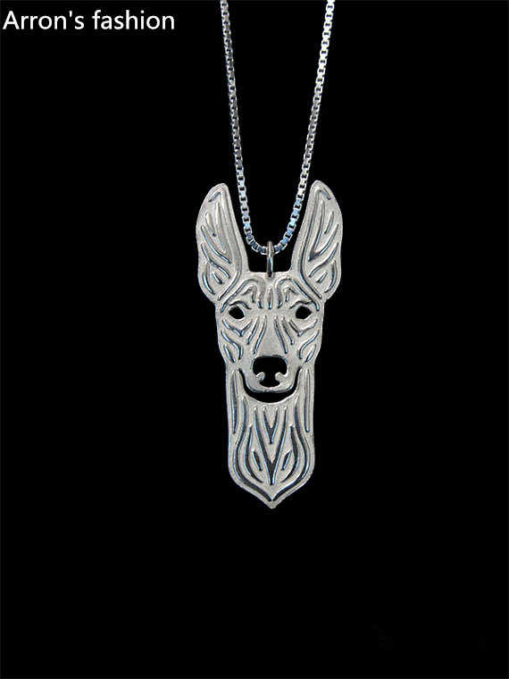 Trendy Cirneco dell'Etna pendant necklace women dog jewelry statement necklace men cs go online shopping india