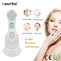 Beurha Mesotherapy Electroporation RF Radio Frequency Facial LED Photon Skin Care Device Face Lifting Tighten Eye