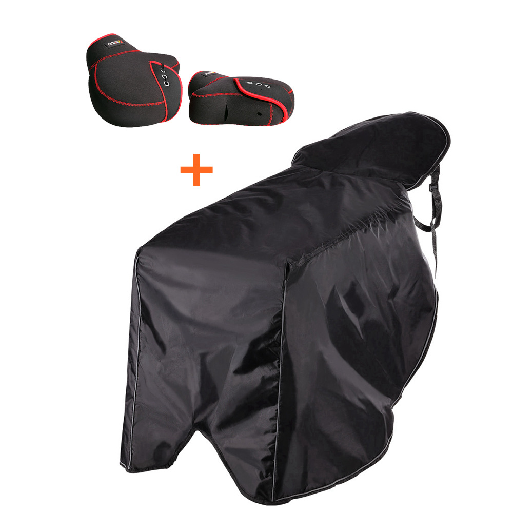 Universal Scooters Leg Cover & Mittens Motorcycle Warm Gloves Rain Wind Cold Moisture Protector Knee Windproof Winter Quilt feu led tmax 530