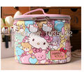 makeup casIn the spring of 2016   HELLO KITTY new cosmetic bag Lovely bear pattern Super large capacity trousse maquillage femme