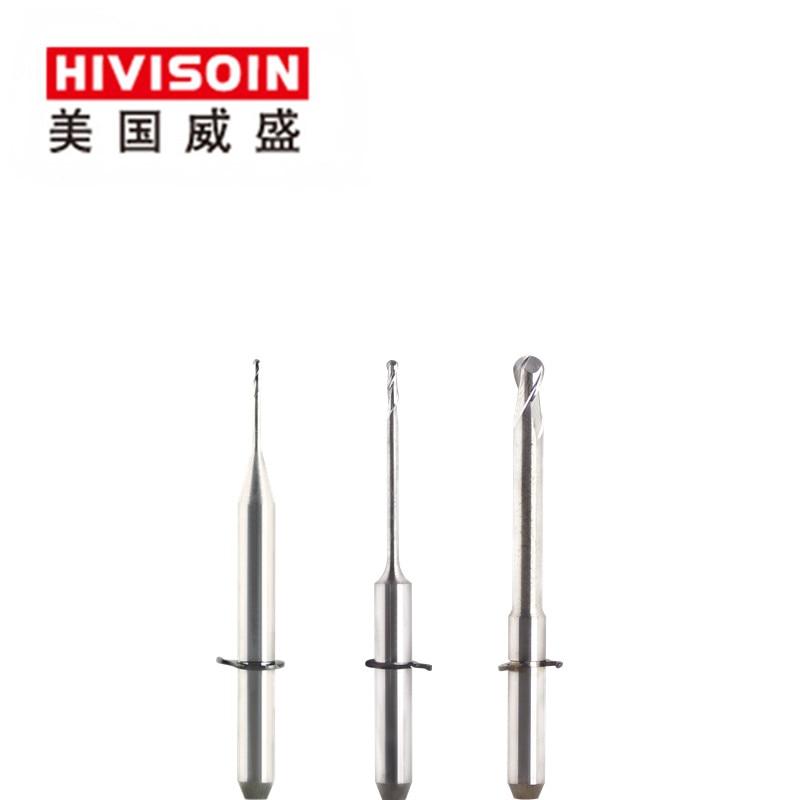 Wieland Mini CAD/CAM Burs Length=35mm Shank 3mm Dental Milling Cutters Zirconia/pmma/wax Block End Mills