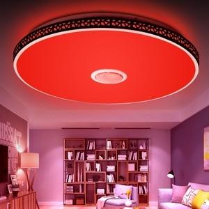 Image 5 - الحديثة سمّاعات بلوتوث LED ضوء السقف عن بعد ملون للتحكم عكس الضوء الموسيقى مصباح غرفة المعيشة تركيبة إضاءة غرفة نوم الذكية