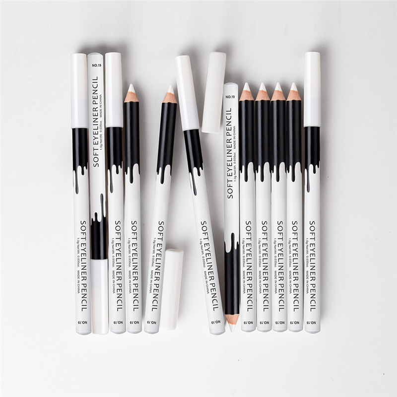 MENOW Brand 12pcs/set white under waterline eyeliner pencil waterproof highlighter pen soft matte shadow with tracking P112 image