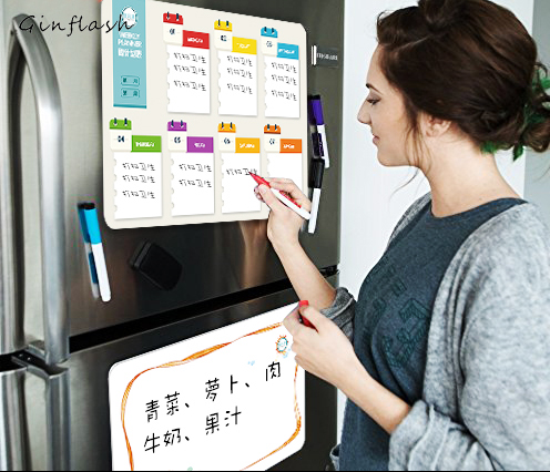 21*28cm Soft Fridge Flexible pet light Whiteboard Message Board Magnetic Notes Refrigerator  waterproof 1marker&2button mexi 10pcs bag round magnetic pin button memo message note whiteboard fridge home office refrigerator parts