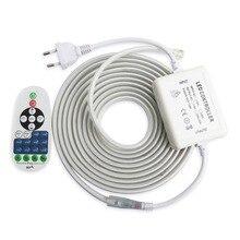 Tira de luces LED de 220 v con Control remoto por RF cinta regulable 2835 SMD IP67, cinta de diodo de 220 v, resistente al agua, JQ