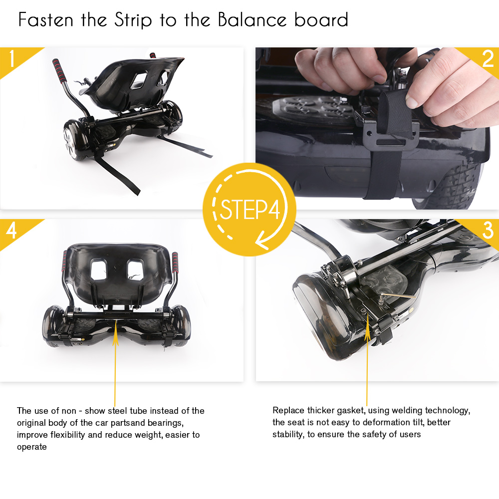 Koowheel Hoverboard Kart 2017 Hoverseat Hoverkart For 65 10 Inch Go Balance Board Smart Electric Scooter Karting Kids In Self Scooters From