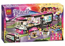 Bela 10407 Friends Pop Star Tour Bus Blocks Bricks Toys Girl Game House Gift Compatible with Decool Lepin Sluban LEGOelids 41106