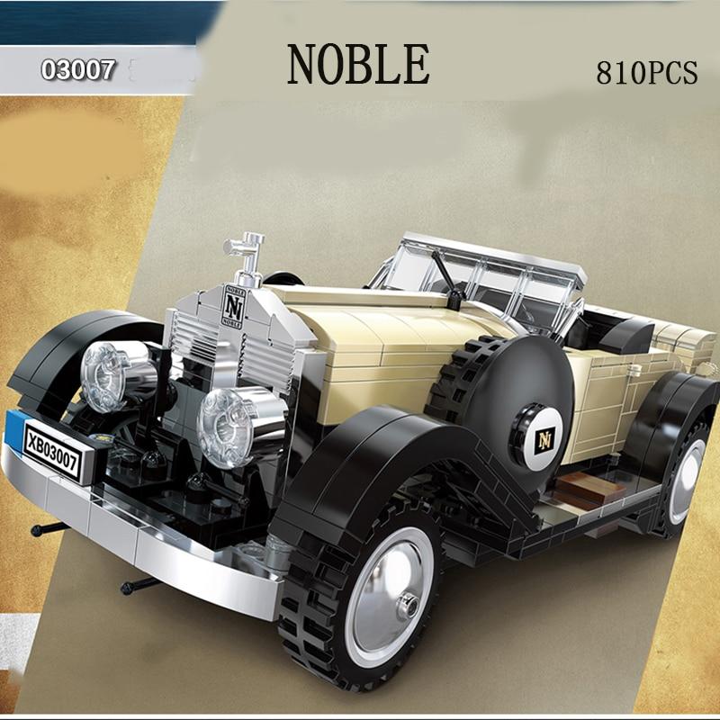 Legoed Technic série jouet voiture 03007 la rolls-royce Noble voitures modèles kits LegoING blocs de construction briques jouets garçon cadeau de noël