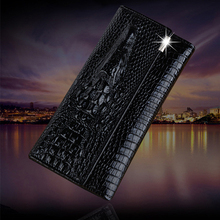Fashion Alligator Womens Leather Wallet Long Trifold Designer Purse Women 3D Animal Printed Female Card Holder Lady
