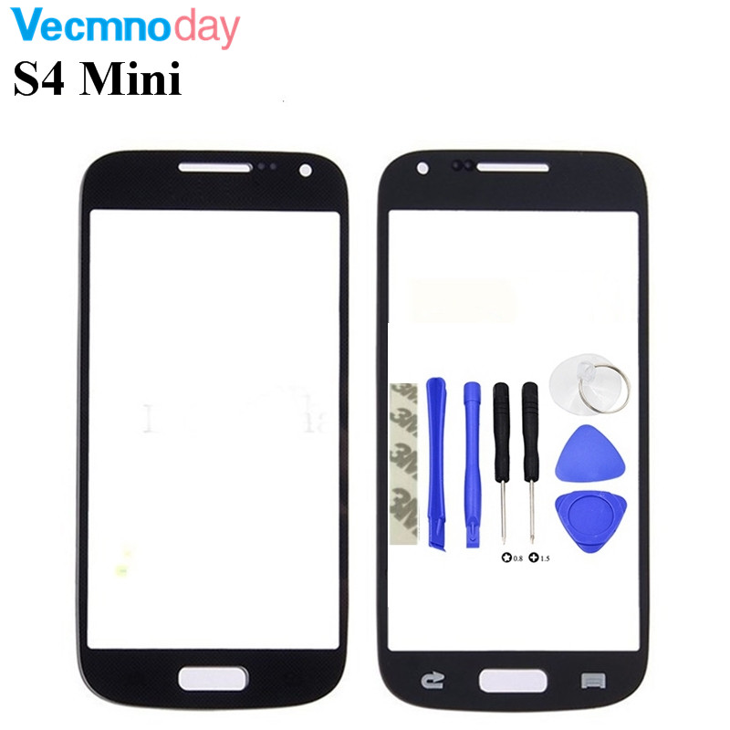Vecmnoday 4.3'' High quality Front Outer Glass Lens Screen Replacement For Samsung Galaxy S4 Mini i9190 i9195 i9192 + Tools