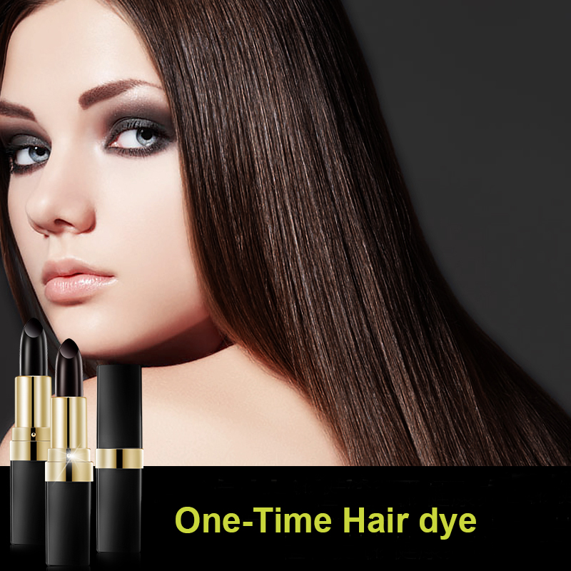 Non toxic One Time Hair dye Instant Gray Root Coverage Hair Color Modify Cream Stick Temporary Cover Up White Hair Color Dye in Hair Color from Beauty Health