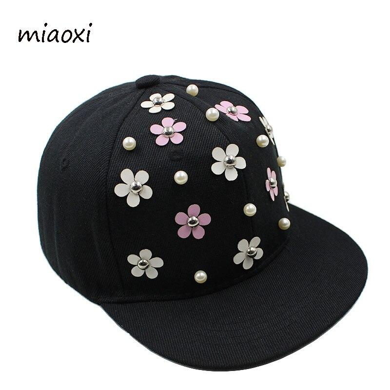 miaoxi New Fashion Boys Baseball Caps Hip Hop Golden Floral Girls Cap Adjustable Child Hat For Children Gift Summer Sun Hats