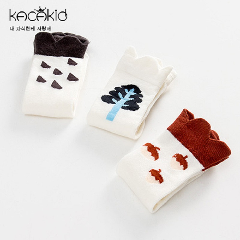 Kacakid baby cotton socks boy girl cute non-slip socks kids tube Socks baby long socks 3 ...