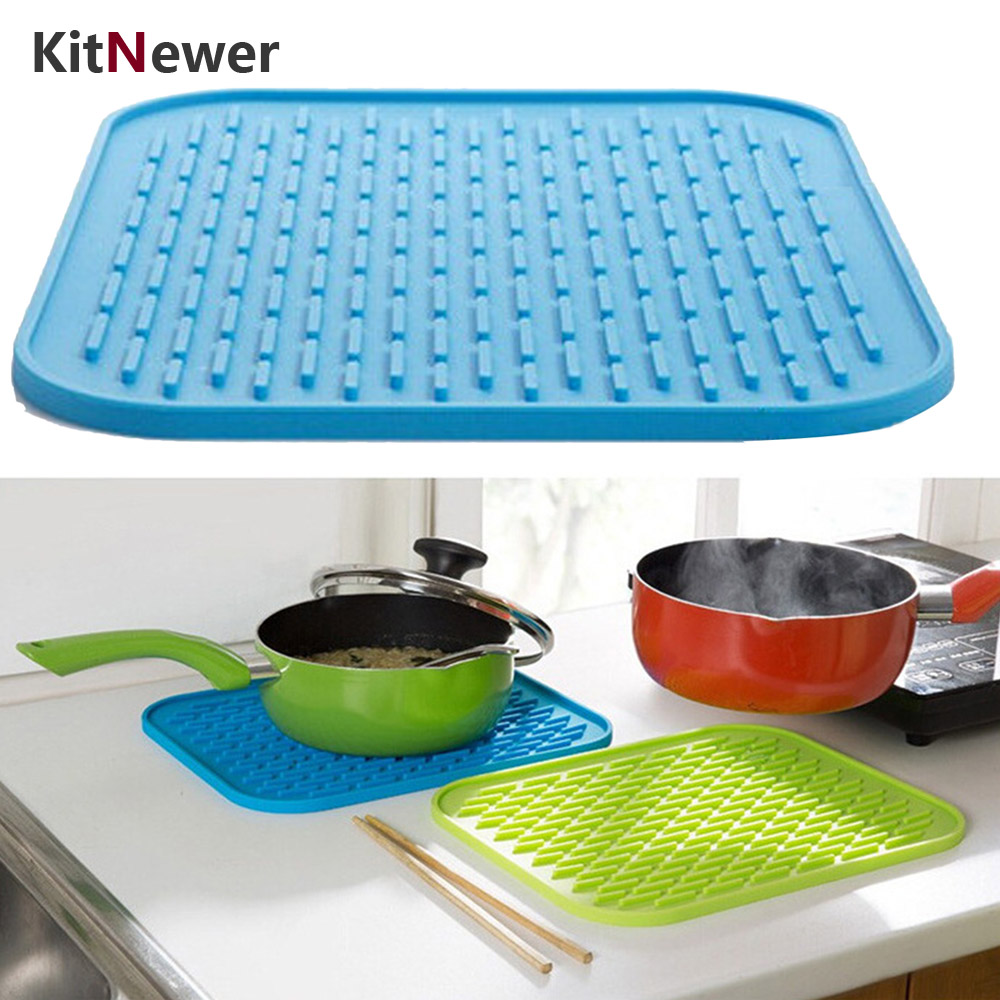 Silicone Pot Holders: KITNEWER 1 Piece 21.8x15.8 Cm Silicone Pot Holder Heat