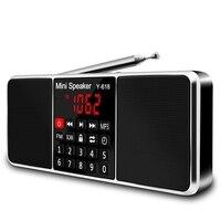 Многофункциональный цифровой fm-радио медиа-динамик Mp3 музыкальный плеер Поддержка Tf карта usb-накопитель со светодиодным экраном и таймером ...