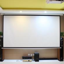 HD Écran De Projection Électrique 150 Pouce Avec Télécommande 16:9 Motorisé Support Mural Projecteur Écrans Pour 3D Cinéma Bureau