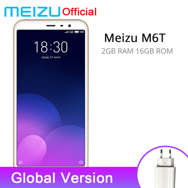 Global Version Meizu M6T 6T 2GB 16GB Smart Phone Octa Core 5.7'' Screen 13MP Dual Rear Camera 3300mAh Fingerprint ID