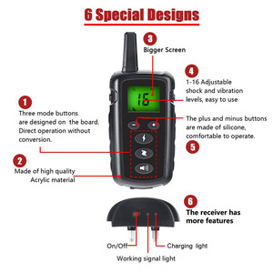 Image 3 - 500m pet dog training collar electric shock collar for dogs waterproof remote control dog device charging LCD Display