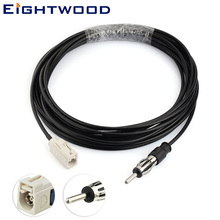 Eightwood Fakra to DIN  Cable Fakra straight B jack connector to DIN 41585 Aerial Replacement RG174 cable 500cm 2pcs new fme male plug connector switch fakra connector rg174 cable 20cm8 adapter wholesale fast ship