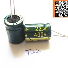 Aluminum Electrolytic-Capacitor-Size 22UF Low-Impedance 5pcs/Lot High-Frequency 13--17-T22
