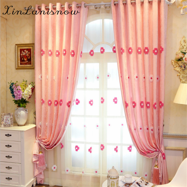 High Quality Luxury Pink Curtains for Living Dining Room Bedroom ...