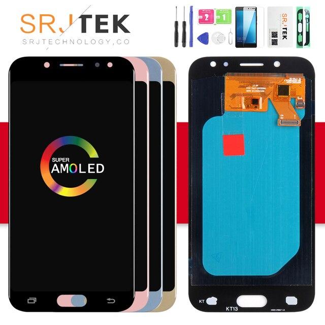 AMOLED/TFT J530F شاشة لسامسونج غالاكسي J5 2017 عرض J530 LCD SM-J530F عرض تعمل باللمس محول الأرقام زجاج الجمعية J5 2017 LCD
