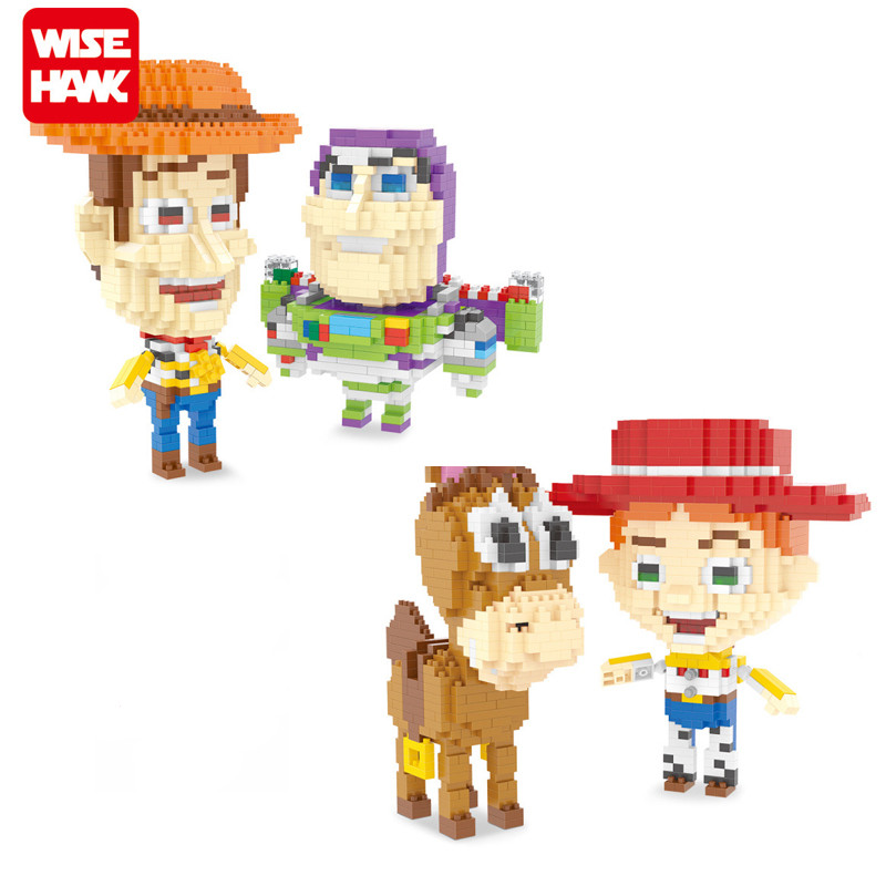 Diamond blocks Super Mario Toy Story Movie Figure Model Building toy Action Figures children Bricks toys