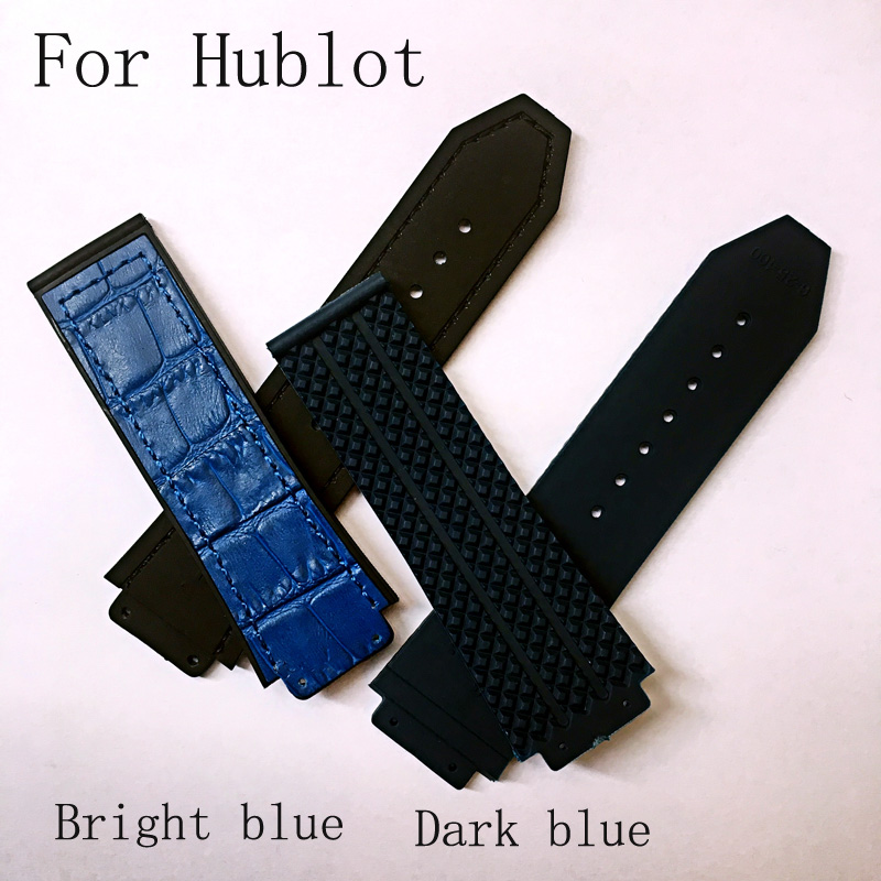 25*19mm Blue Silicone Rubber Watch Strap Belt  Watchband For HUBLO Big Beng Watch with Logo Witout Buckle,The Clasp size 22mm mouth sucker sexy toys licking nipple clit vibrator tongue oral sex toy clitoris stimulator massage g spot vibrators for women