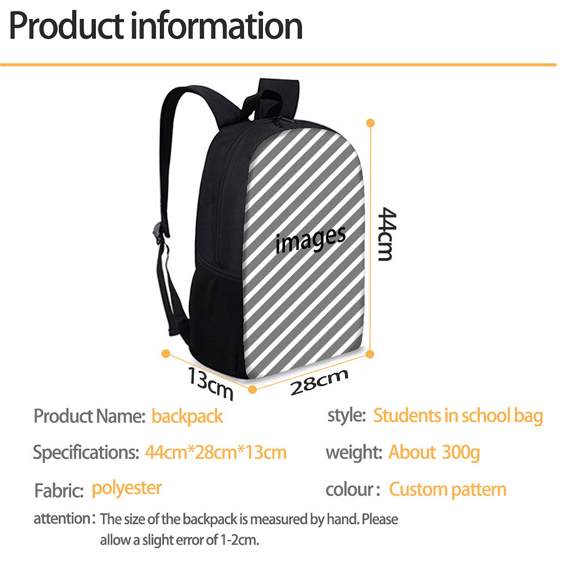 INSTANTARTS Casual Children School Bag Daily Book Bags Girls Boys Lovely Cartoon Fish Printing Kids Backpack Softback Mochila